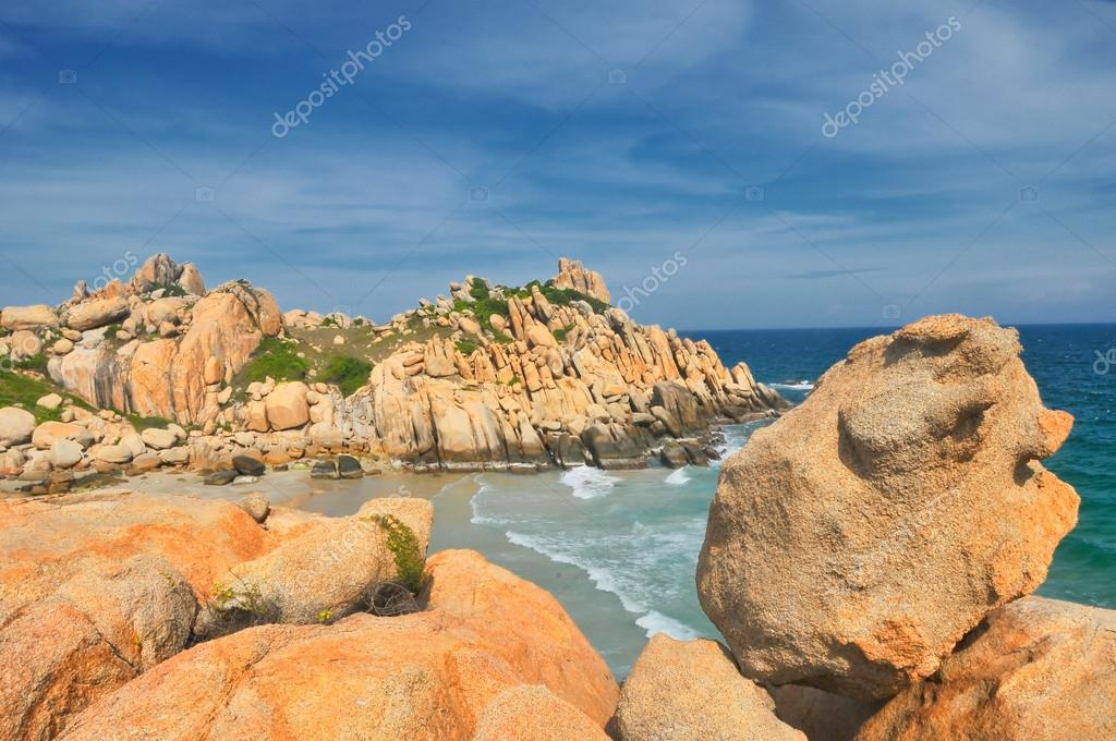 Beautiful seascape in Cu Lao Cau island in Binh Thuan province, Vietnam.