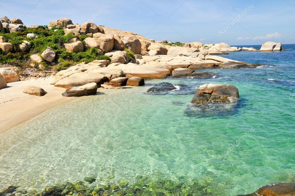 Beautiful seascape in Cu Lao Cau island in Binh Thuan province, Vietnam.