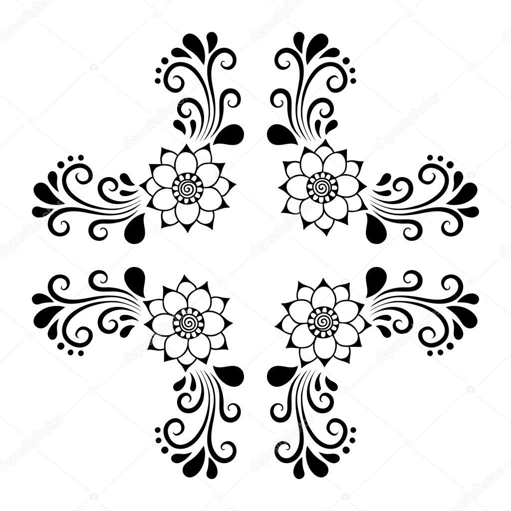 Quadro de azulejo decorativo desenho de m o ornamento for Greche decorative