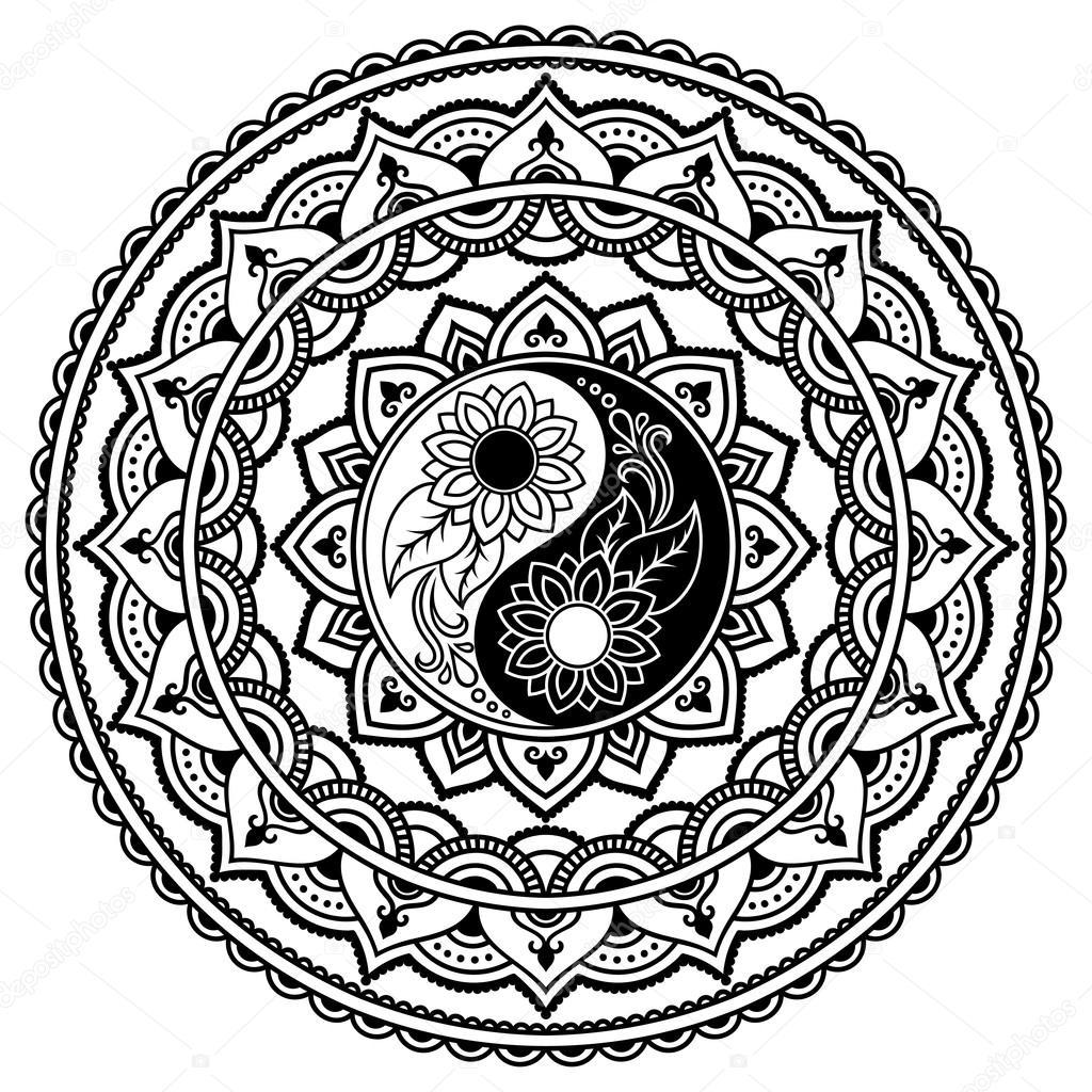 Mehndi Henna Coloring Pages
