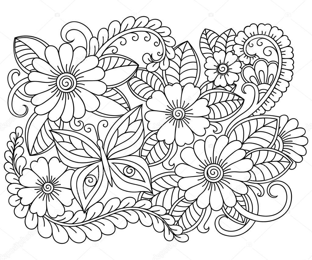 Mejor De Dibujos De Flores Silvestres Para Colorear