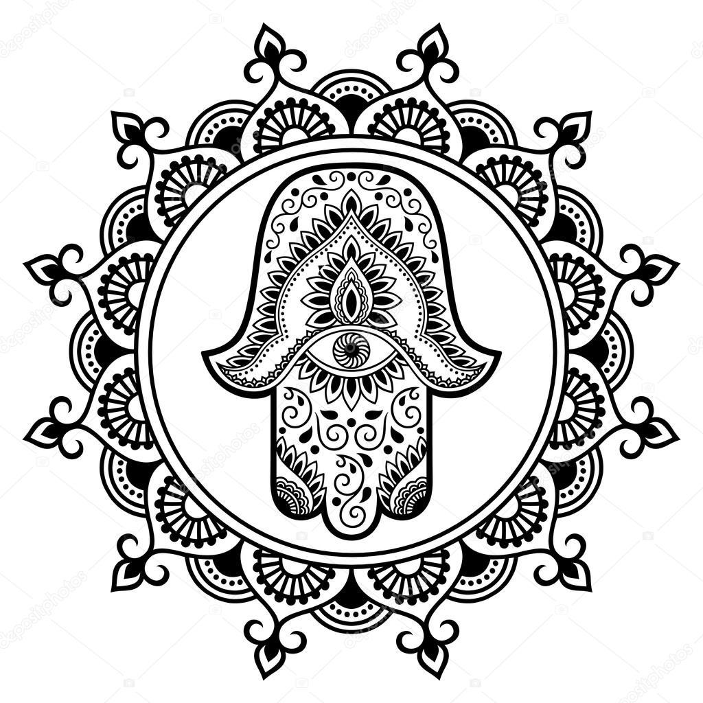 Simbolos Arabes Para Tatuar Simbolo Dibujado En El Mandala De La - Simbolos-para-tatuaje