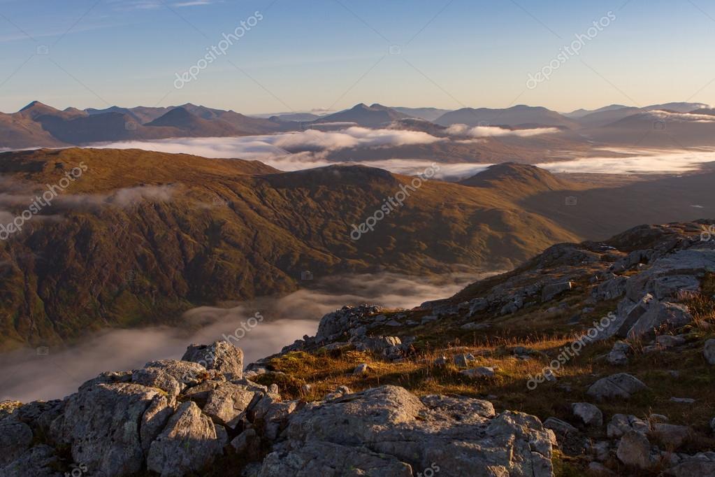 Morning light over the pass of Glencoe.