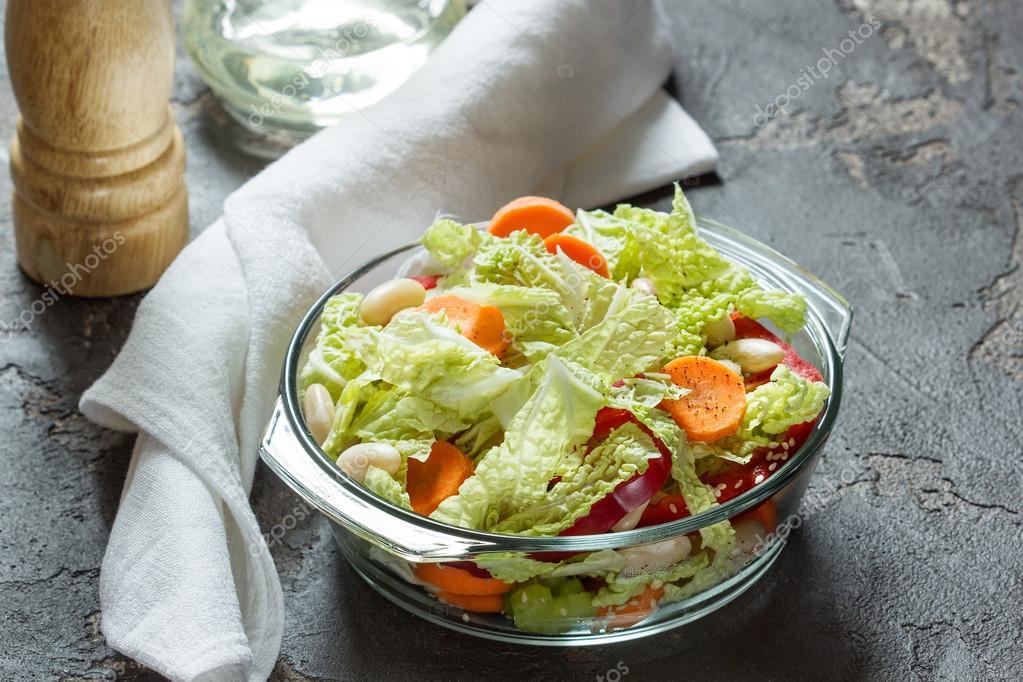 Капуста морковь салат оливковое масло