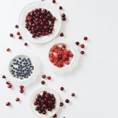 Red and blue berries