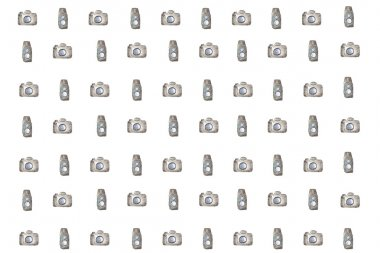 camera pattern painted with watercolor