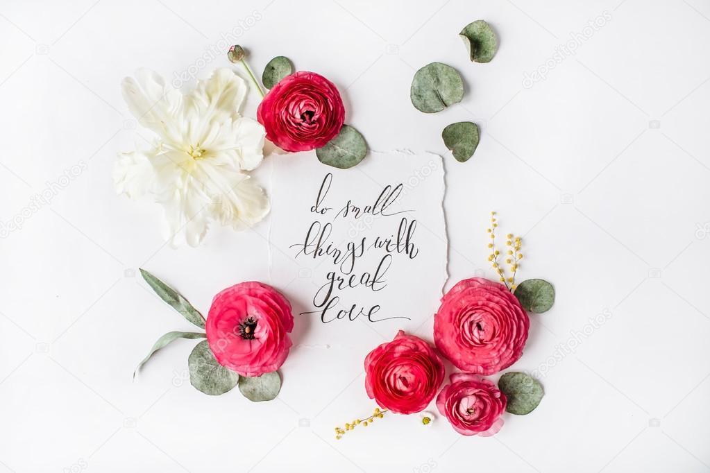 Frase Fazer Pequenas Coisas Com Grande Amor Escritas Em Estilo De