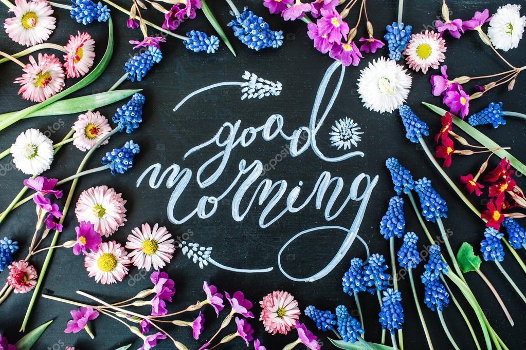 Words Good Morning Written Stock Photo Maximleshkovich 108226134