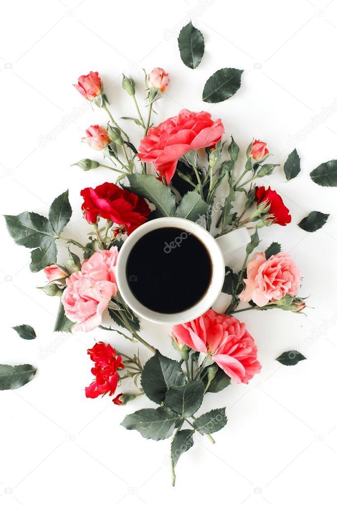 Risultati immagini per caffè e rose