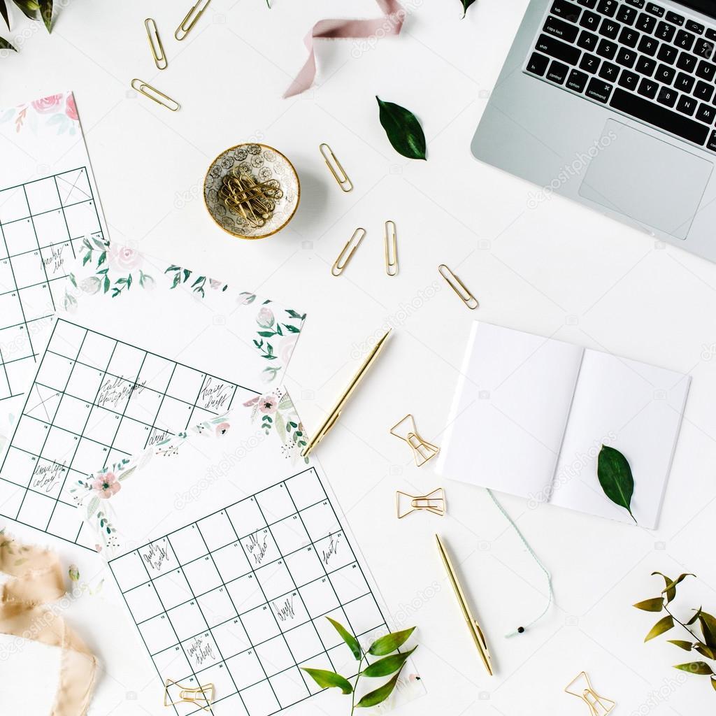 calendario de calendario planificador de la boda foto de stock