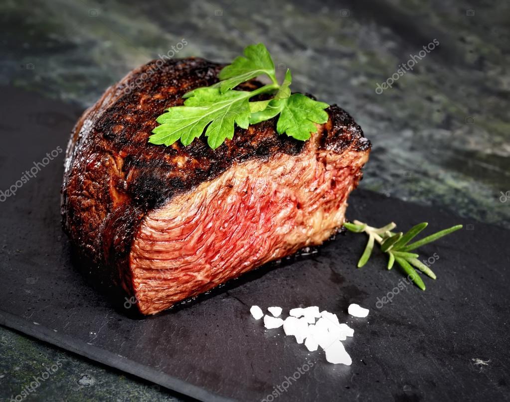 Fried tasty steak