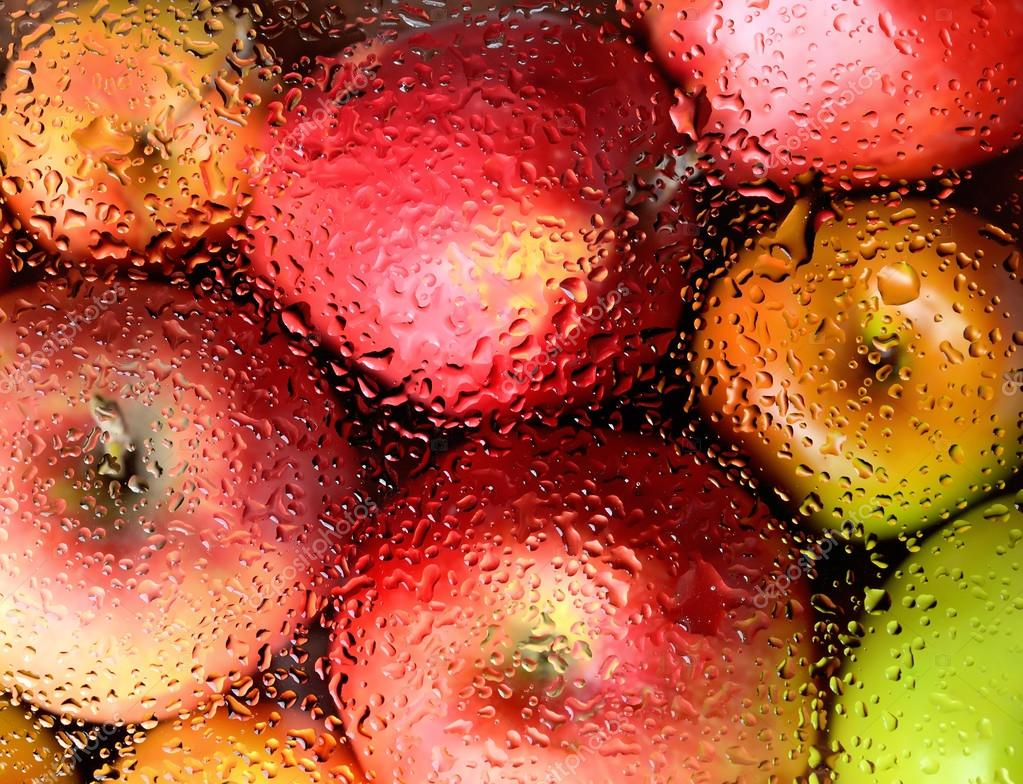 red ripe apples