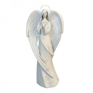 The abstract figure of an angel girl