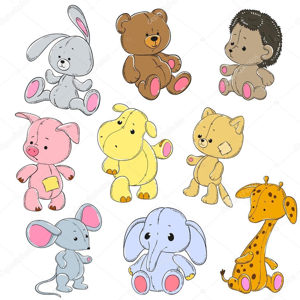 Colecci n de peluches conejo de juguete de dibujos - Dibujos de peluches ...