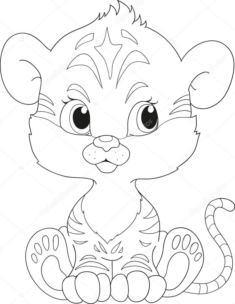 tiger coloring book cartoon character stock vector hibou sun