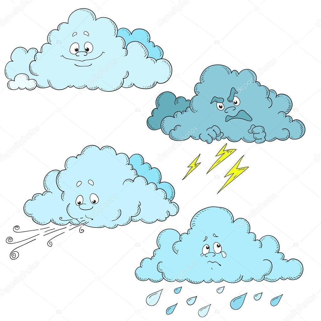 Bulutlar çizgi Kahramanlar Bulutlar Kümesi Hava Durumu Stok