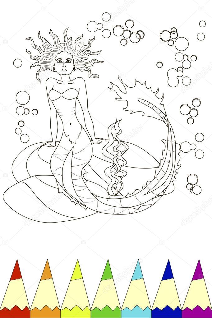 para colorear para niños — Vector de stock © tatianastulbo.gmail.com ...