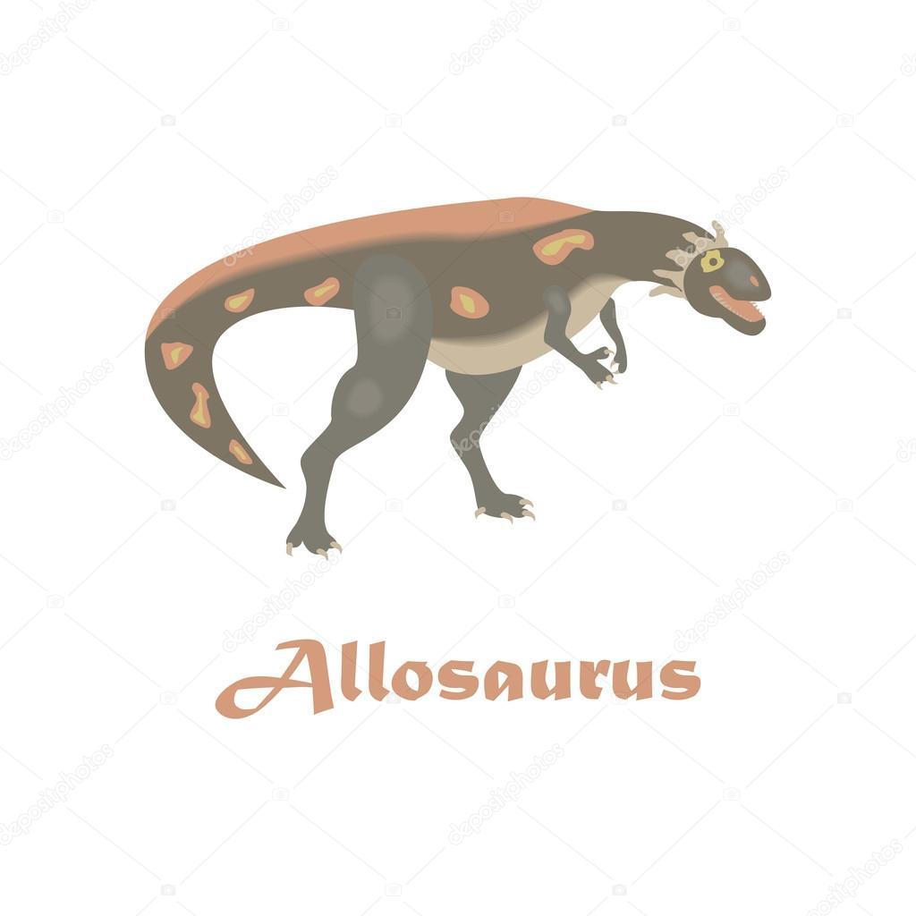 Ausmalbilder Dinosaurier Allosaurus : Dinosaurier Allosaurus Vektor Stockvektor Tatianastulbo Gmail