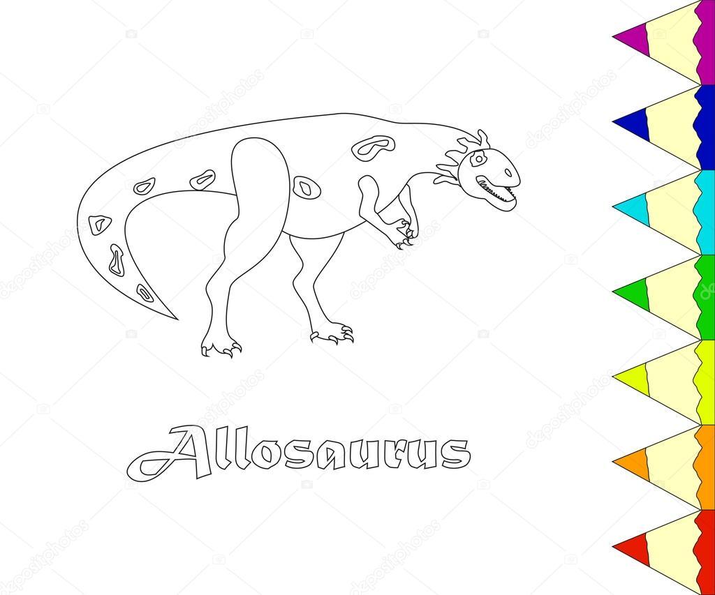 Ausmalbilder Dinosaurier Skelett : Dinosaurier Allosaurus Vektor Stockvektor Tatianastulbo Gmail