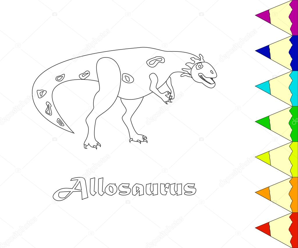 Dinosaur, Allosaurus. vector — Stock Vector © tatianastulbo.gmail ...