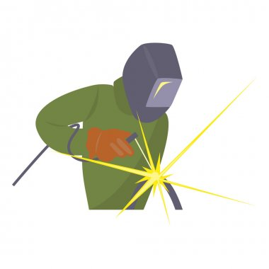 Welder working vector