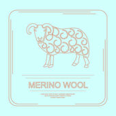 Fényképek Logotype of merino wool with ram logo.