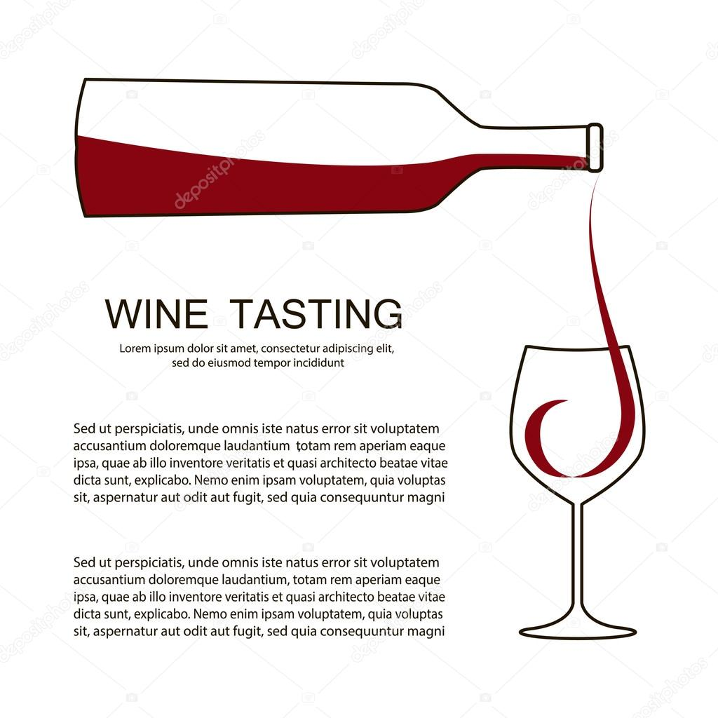 Invitation template for wine testing, event or party. — Stock Vector ...