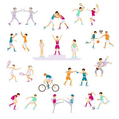 Set Sport people activities