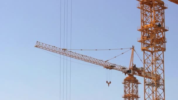 Crane at Construction Site - Tilt