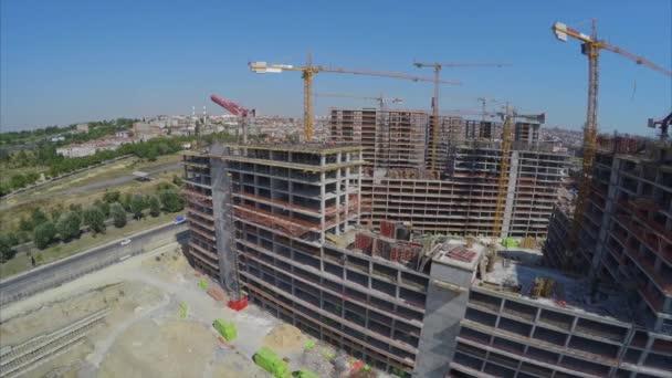 Luftaufnahmen der Baustelle