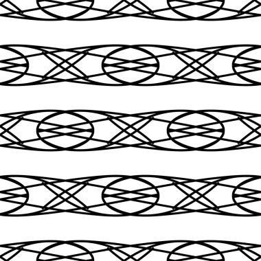 Black abstract geometric seamless pattern