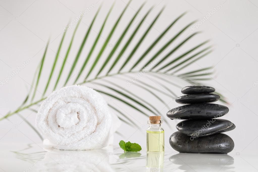 spa accessories and  zen stones
