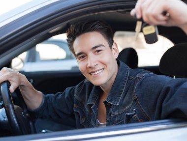 Male car driver