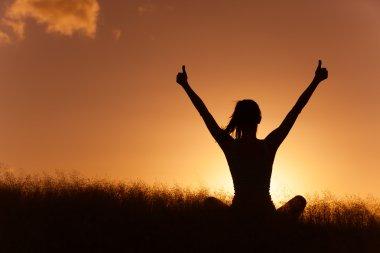 Woman feeling free!