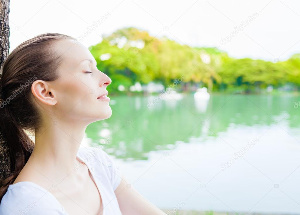 Woman enjoying beautiful day