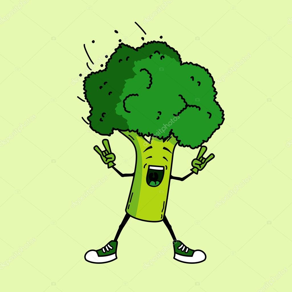 rochas de brócolis desenho animado vegetal stock photo