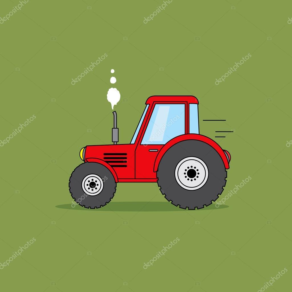 Cerveny Traktor Kresleny Obrazek Stock Fotografie C Lovedoodle