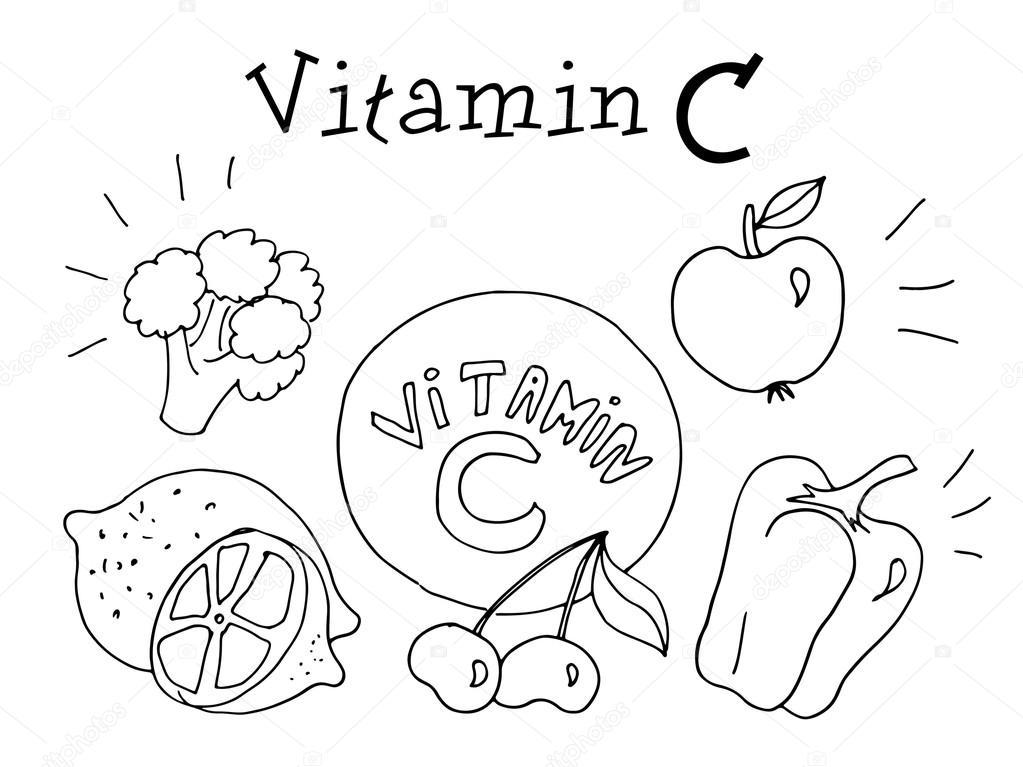 saúde de vitamina c crianças desenho gráfico em vetor vetor de