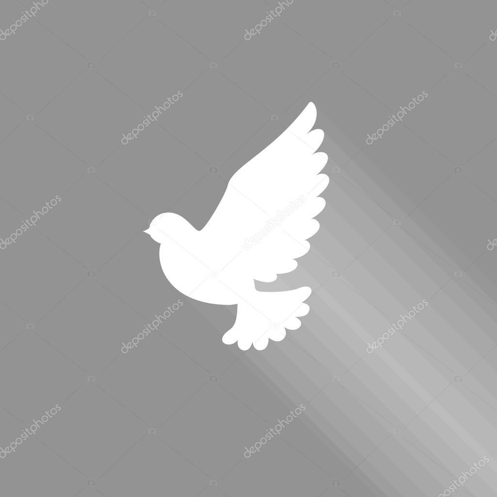 Super Icona del segno Colomba volante con ombra, Spirito Santo colomba  LJ81