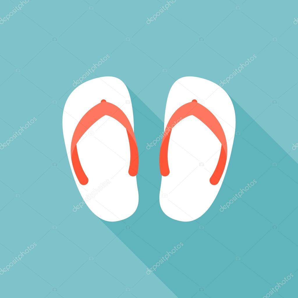 2b69dd53970c33 Sandal illustration. Symbol of beach