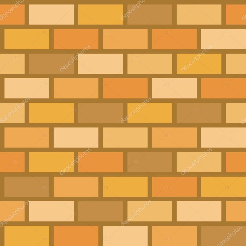 Brick wall seamless pattern vector, flat design, design for ...