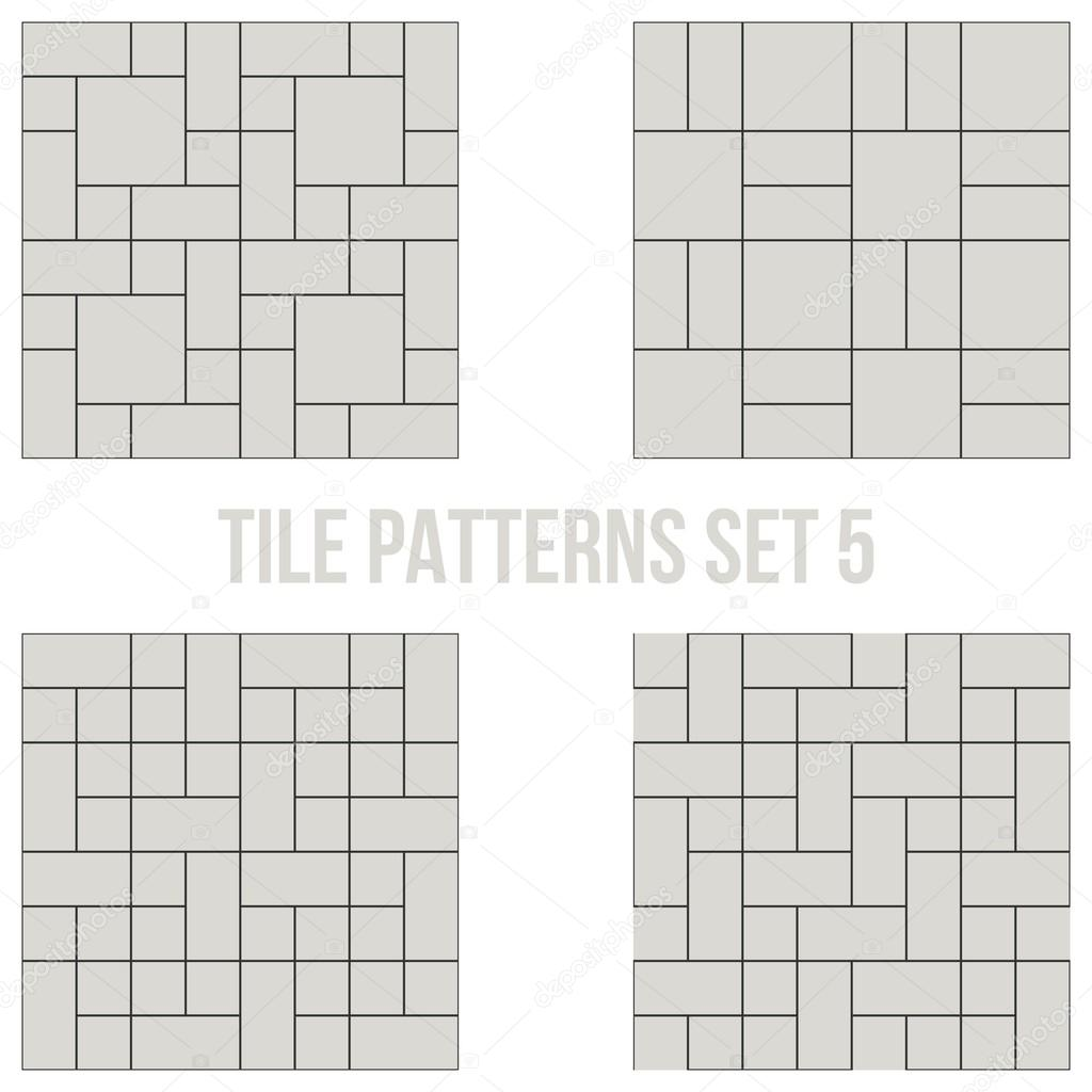 Set of thin line seamless pattern brick tile use for background set of thin line seamless pattern brick tile use for background path toilet wall patio wooden floor ceramic tile parquet floor stack bond and dailygadgetfo Images