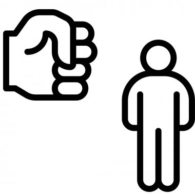 Fist with human icon, Protest related vector illustration icon