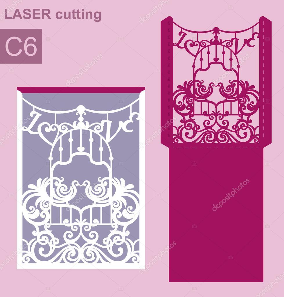 Birdcage Wedding Decor For Laser Cutting Or Die Cutting Cut Out