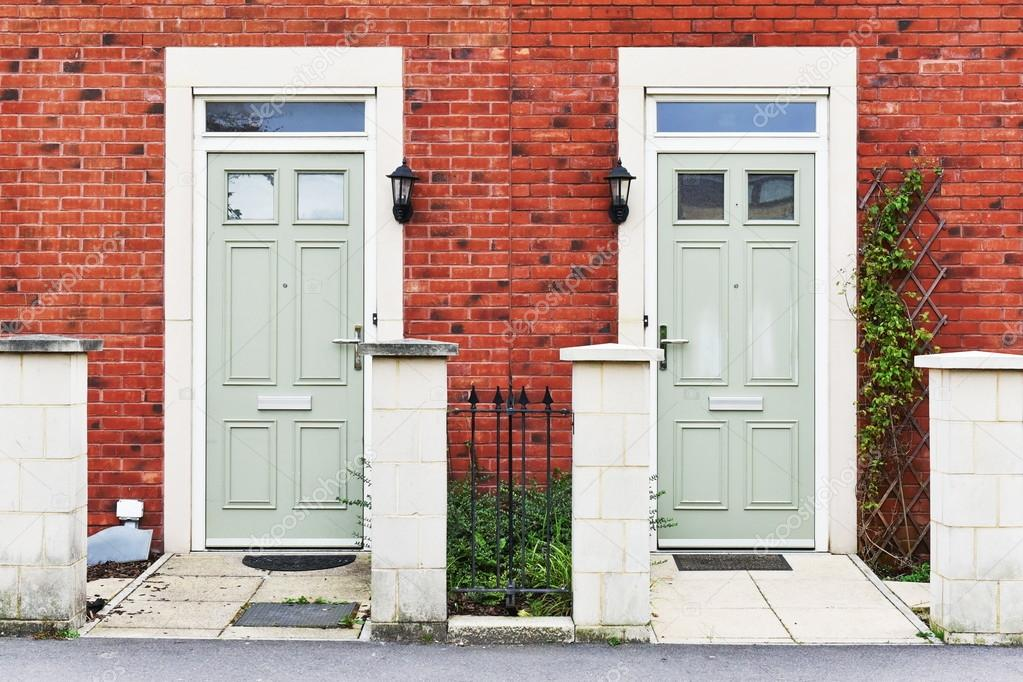 residential front doors red. Front Doors Of Neighbouring Red Brick English Town Houses On A Residential Estate \u2014 Photo By 1000Words E