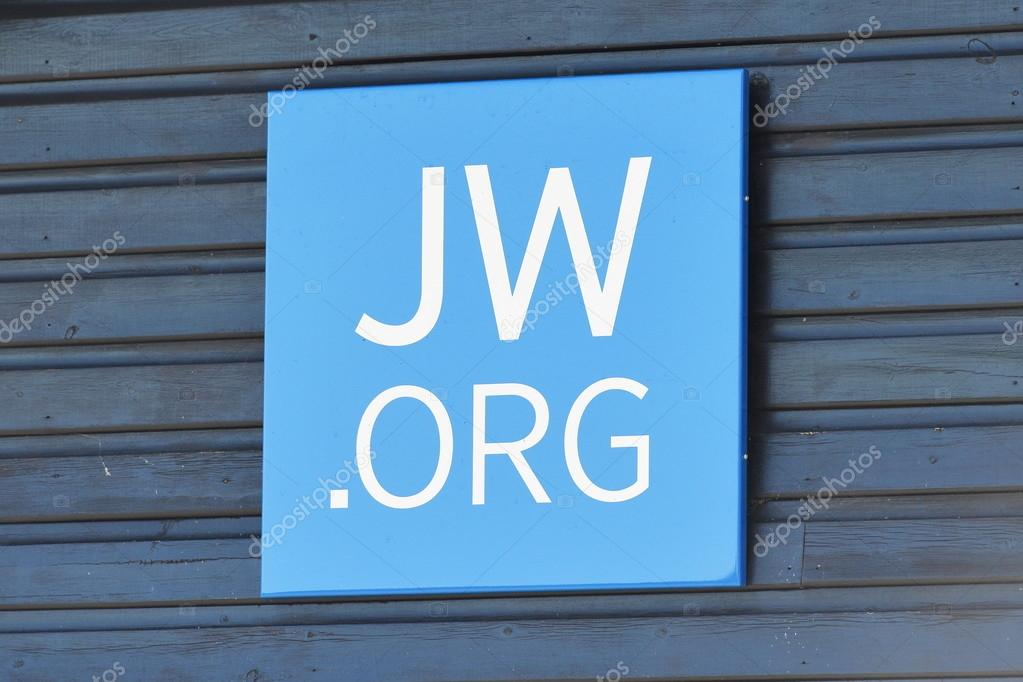 View a sign outside a Jehovah's Witnesses Kingdom Hall  – Stock