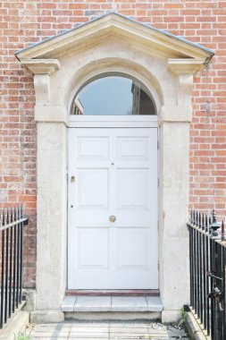 Front Door of a Beautiful Red Brick Town House