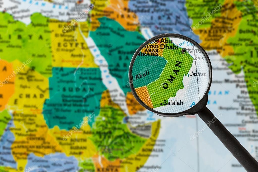 Karte Oman.Karte Von Oman Stockfoto Lostation 108474782