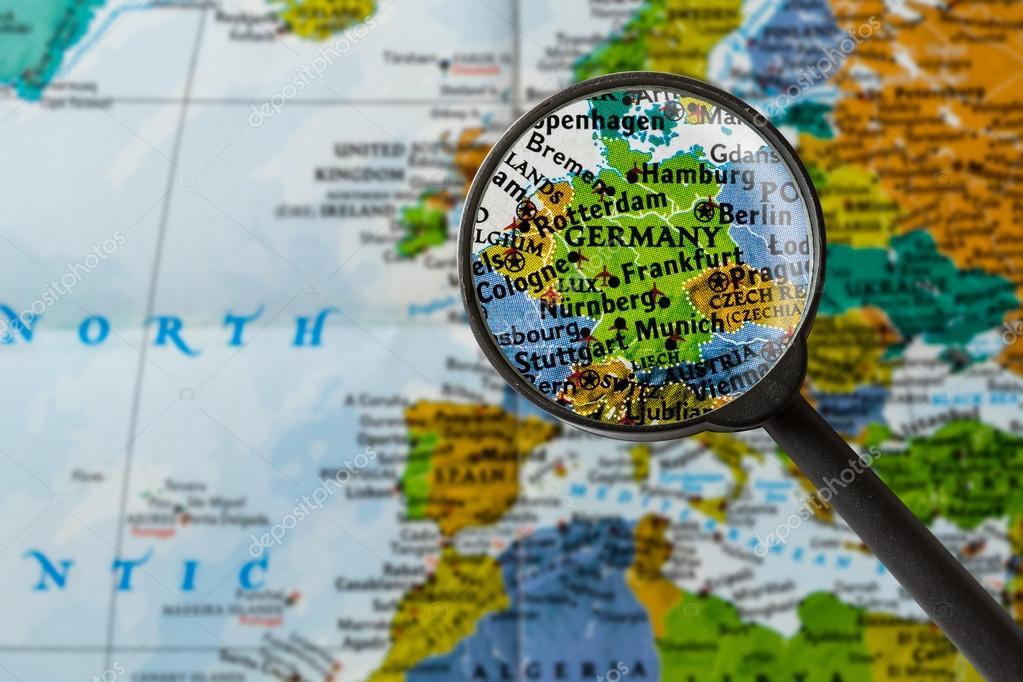 map von deutschland — Stockfoto © lostation #108474982