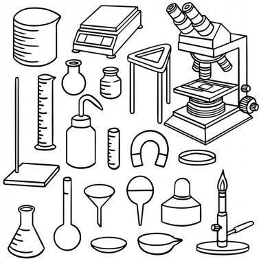 vector set of laboratory icon